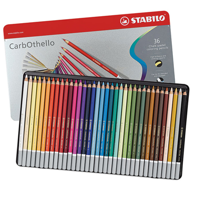 stabilo carbothello pastel pencils tin of 36 george weil