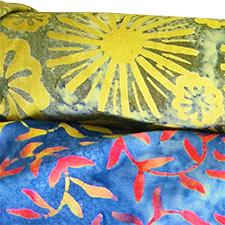 Batik patterned cloth